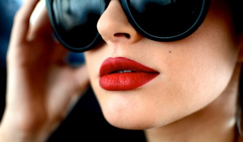 Pair A Mustard-Colored Ensemble With Red Lipstick