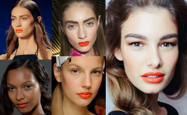 Orange Lips: Trend For Spring, Great For Fall