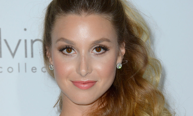 Whitney Port Sports Soft Autumnal Makeup