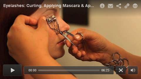 Eyelashes: Curling, Applying Mascara & Applying False Lashes