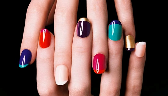 French Manicures Take A Decidedly More Colorful Twist