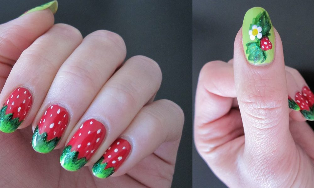 Give Your Nails The Strawberry Treatment