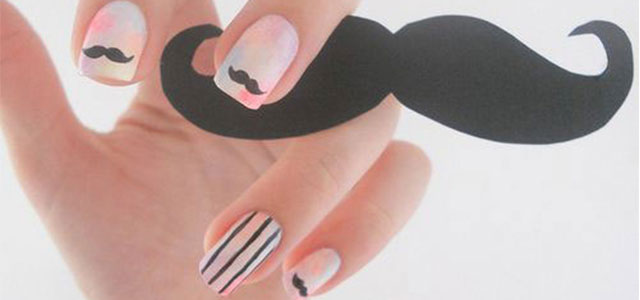 Did You Ever Think Mustache Nails Would Be Cool?