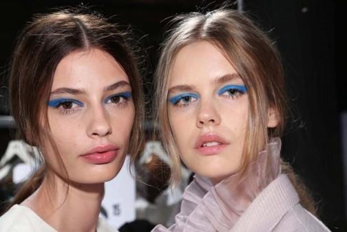 Blue Eye Makeup Is Huge This Season