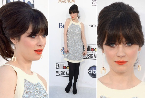 How To Nail Zooey Deschanel's Orange Lip Look