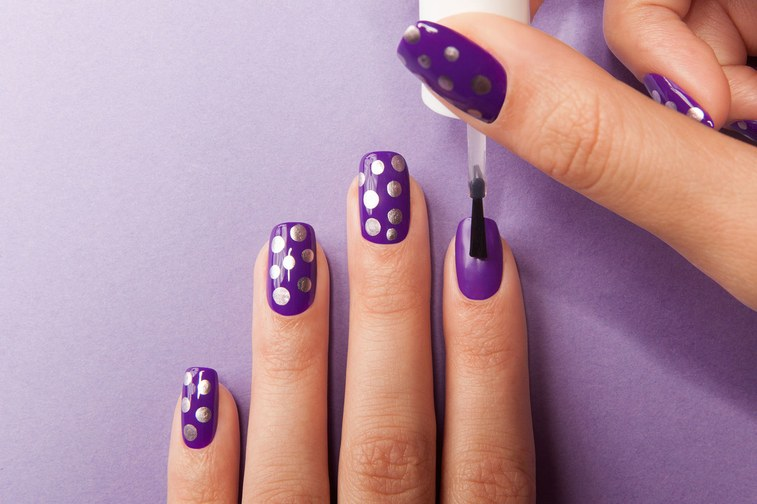 How To Pull Off The Easiest Polka Dot Manicure Ever