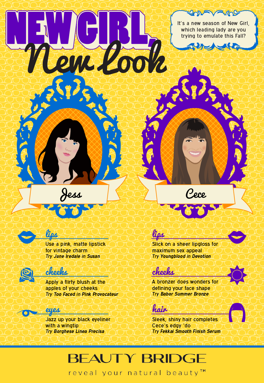 New Girl, New Look infographics