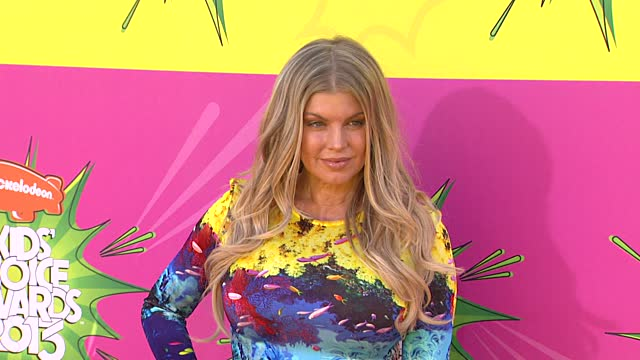 Fergie Goes Natural At The Nickelodeon Kids' Choice Awards