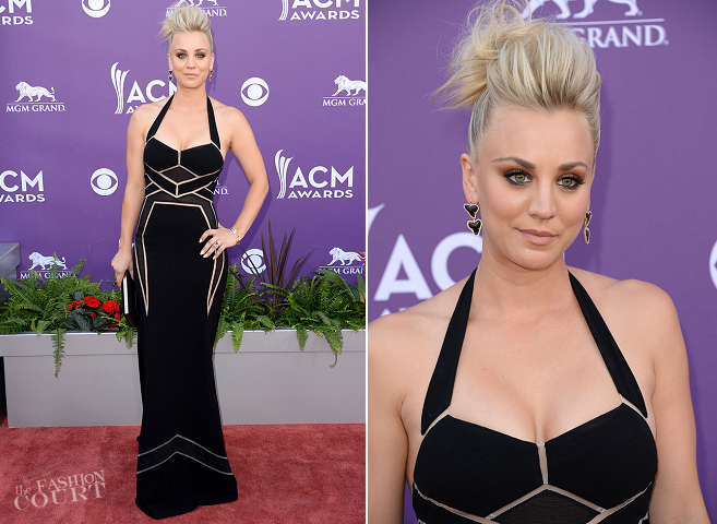 Kaley Cuoco Opts For Dramatic Eye Makeup On The Red Carpet