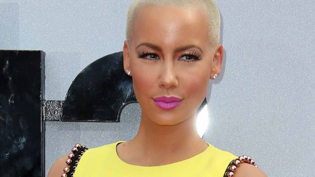 Amber Rose Goes For Bright Colors At The BET Awards
