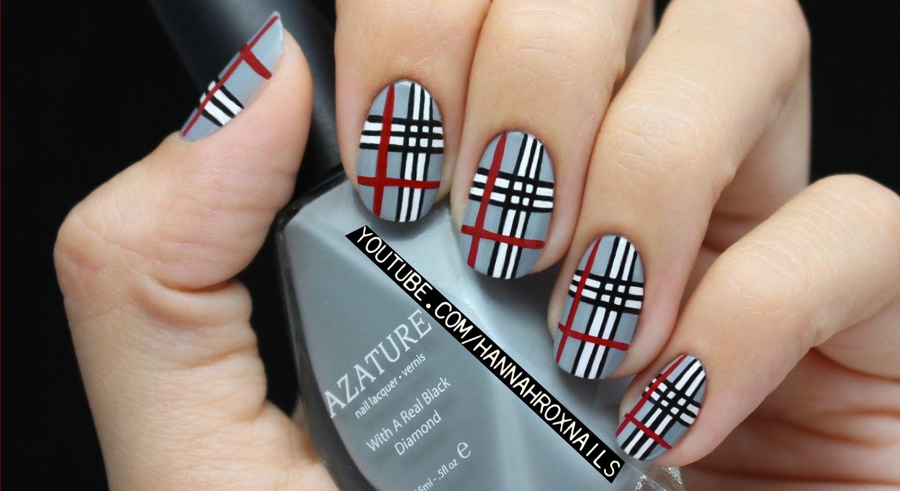 plaid-nail-art-for-girls-life-ma