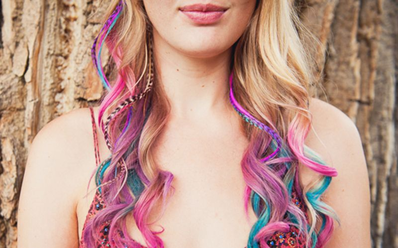 DIY hair chalking