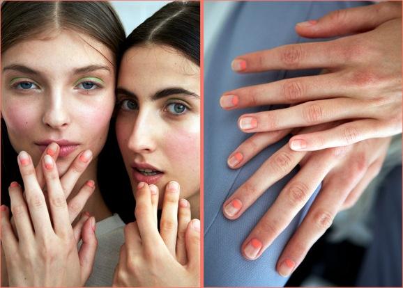 coral-half-moon-manicure