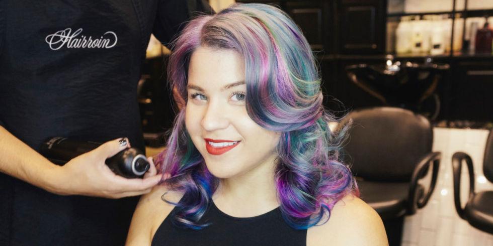 rainbow hair trend