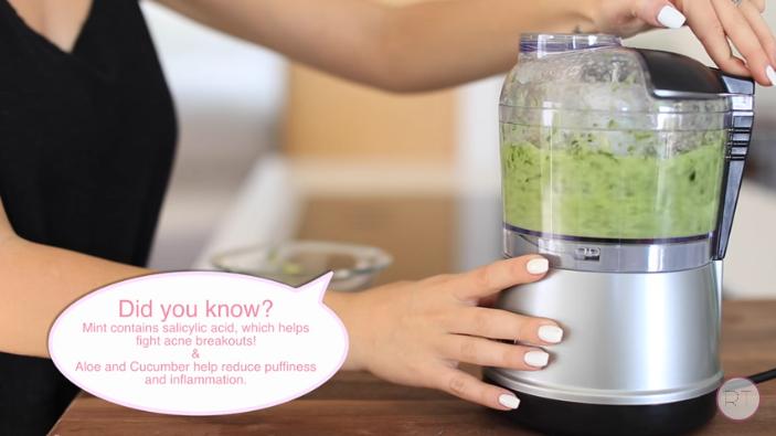 DIY Mint Cucumber Gel Mask