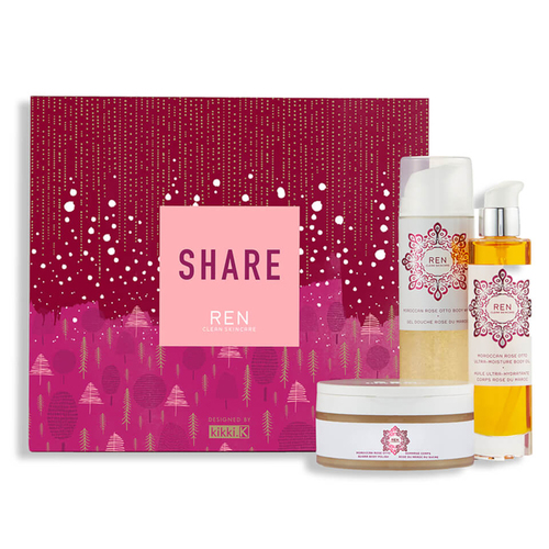 This REN SHARE holiday gift set includes 2 full-sized products i.e. the  Moroccan Rose Body Wash and the Ultra Moisture Oil. 0b84d1a20